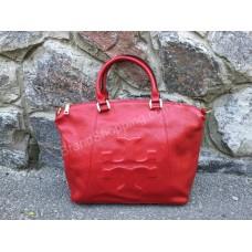 Эксклюзивная женская сумка кожаная TORY  BURCH Lux красная 0735R